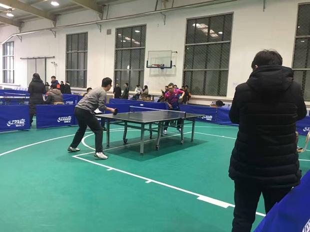 市人社局迎新年乒乓球比赛在我院举行